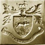 Hand engraving by Alex Pugachevskiy: crest ring